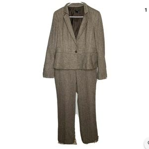Ann Taylor Womens Career Suit Size 12 Brown
